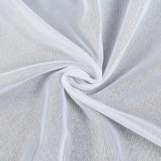 Креп гардинный штрихи белый с утяжелителем, ш.180