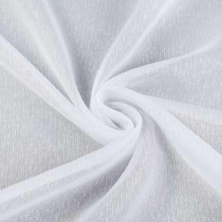 Вуаль белая в густые ниточные полоски, с утяжелителем, ш.180