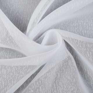 Вуаль белая в густые ниточные полоски, с утяжелителем, ш.260