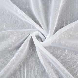 Вуаль тюль шифон штрихи ниточные, белая с утяжелителем, ш.150