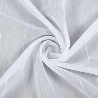 Вуаль белая в ниточные полосы с уплотнением, ш.260