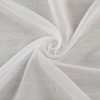 Вуаль тюль шифон полоски ниточные уплотненные, молочная с утяжелителем, ш.260