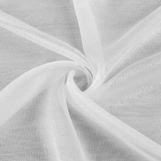 Вуаль тюль шифон полоски ниточные густые, белая с утяжелителем ш.300