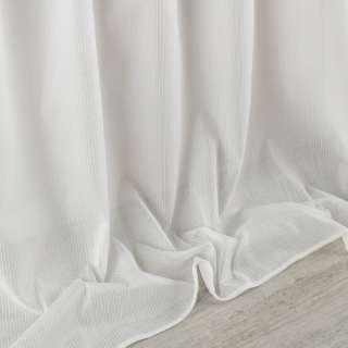 Кристаллон тюль полоски ниточные, молочный с утяжелителем, ш.300