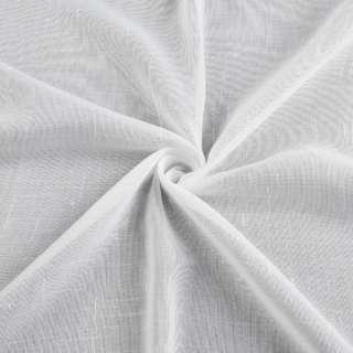 Лен гардинный штрихи ниточные, белый с утяжелителем, ш.300