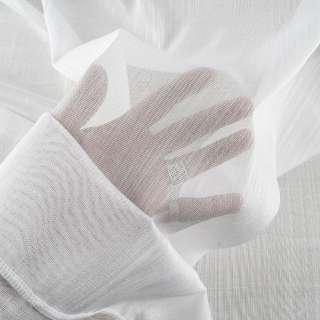 Лен гардинный нити блестящие белый с утяжелителем, ш.300