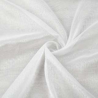 Лен гардинный белый блестящий с утяжелителем ш.300