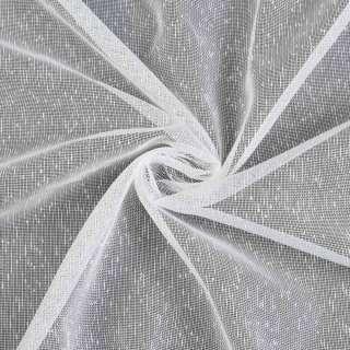 Лен гардинный штрихи ниточные, белый с утяжелителем, ш.180