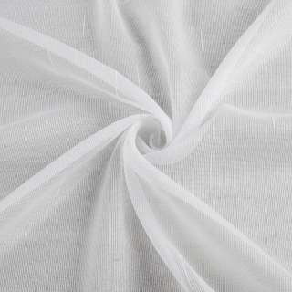 Лен гардинный полоски ниточные блестящие, белый с утяжелителем, ш.250