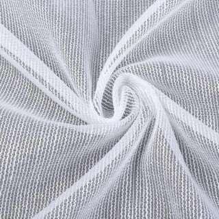 Лен гардинный полосы ниточные плотные блестящие, белый с утяжелителем, ш.300