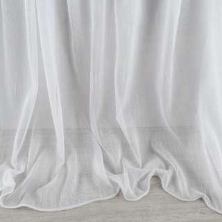 Лен гардинный полосы ниточные плотные, белый с утяжелителем, ш.300