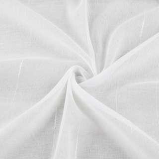 Лен гардинный полосы ниточные, белый с утяжелителем, ш.300
