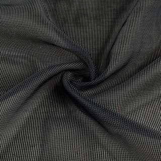 Органза жаккардовая тюль полоски ниточные густые серые темные, серая с утяжелителем, ш.250