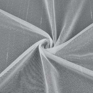 Микросетка тюль штрихи ниточные белая с утяжелителем, ш.150