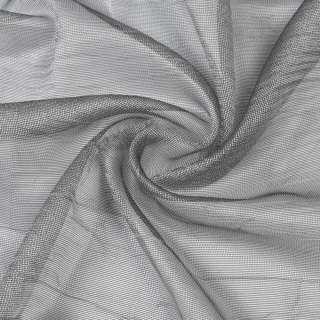 Микросетка жатая хамелеон серебристо-черная, с утяжелителем, ш.300