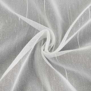 Микросетка белая с блестящими штрихами, с утяжелителем, Германия, ш.260