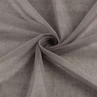 Микросетка тюль коричневая матовая с утяжелителем, ш.300