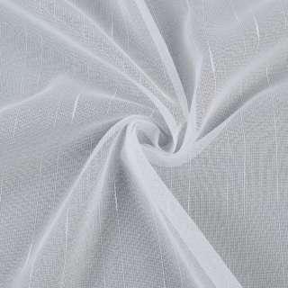 Микросетка тюль полоски ниточные, белая с утяжелителем, ш.300