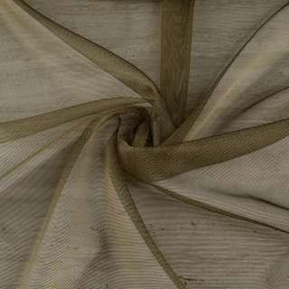 Микросетка тюль хамелеон оливковая темная с утяжелителем, ш.300