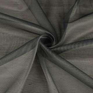 Микросетка тюль хамелеон серая темная с утяжелителем, ш.300