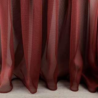 Микросетка тюль бордово-черная с утяжелителем, ш.300