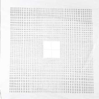 Деворе портьерное белое с мелкими прозрачными прямоугольниками и белыми квадратами ш.140