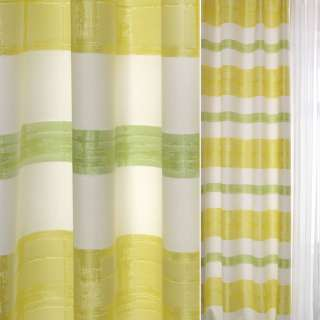 Жаккард в зеленые, белые, салатовые полосы с бликами ш.138