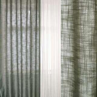 Лен облегченный для штор серый, ш.160