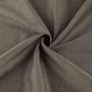 Лен облегченный для штор коричневый с утяжелителем, ш.300