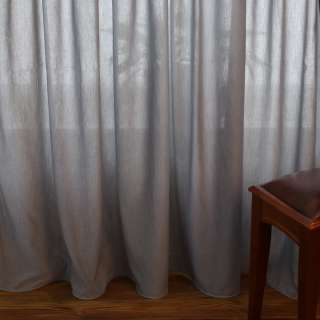 Лен облегченный для штор серый с утяжелителем, ш.300