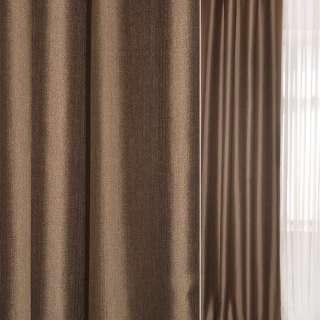 Лен креп для штор коричневый, ш.145