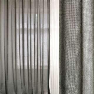 Лен облегченный для штор меланж серо-черный, ш.300