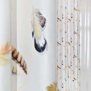 ДЕКО коттон белый с перьями Германия ш.138