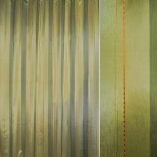 Шелк салатовые,зеленые полосы с шениллом ш.280