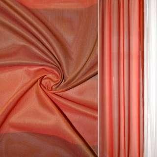Шелк прозрачный в коричнево-красные квадраты Германия ш.145