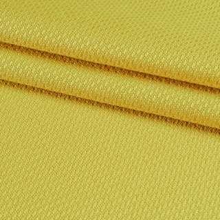 Рогожка вискозная интерьерная желтая ш.140