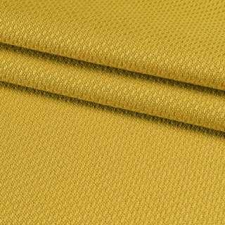 Рогожка вискозная интерьерная золотисто-желтая ш.140