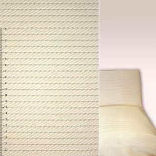 Рогожка мебельная косичка молочная, ш.140