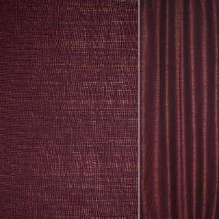 Рогожка CADIZ черно-бордова с бликами ш.140