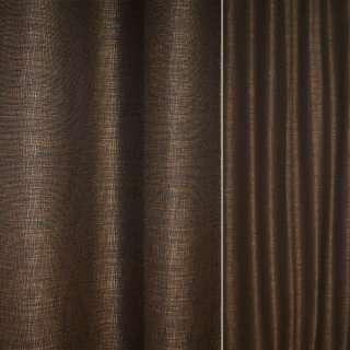 Рогожка CADIZ черно-коричневая с бликами ш.140