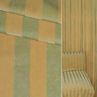 Велюр мебельный в полоску 18мм желтую и зеленую  ш.150
