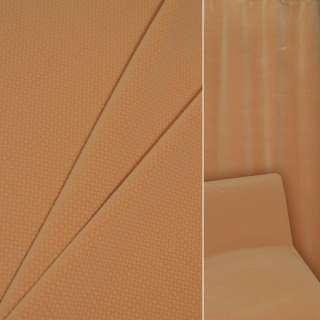 Велюр вискозный мебельный оранжевый в коричнево-белую клеточку ш.140