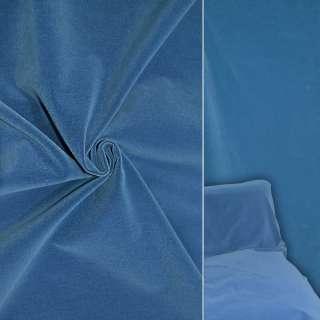 Велюр шерстяной мебельный светлый ультрамарин ш.140