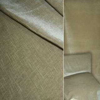 Велюр шерстяной мебельный бежево-оливковый ш.140