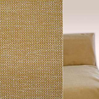 Шенилл золотистый рельефный на пвх основе ш.136