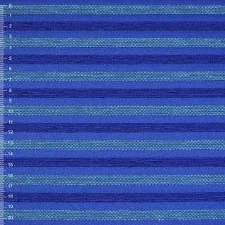 Шенилл синий в сине-бирюзов рельефную полосу на пвх основе ш.138