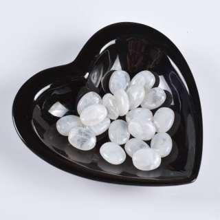 Бусина акрил мрамор белая 15х20мм (цена за 1г)