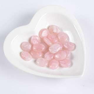 Бусина акрил мрамор розовая 15х20мм (цена за 1г)