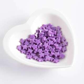 Бусина пластик звездочка 10мм фиолетовая (цена за 1г)
