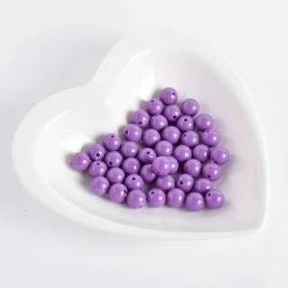 Бусина пластик 10мм фиолетовая (цена за 1г)